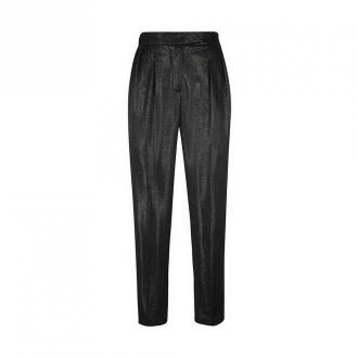 Karl Lagerfeld Lamé Tailored Trousers Spodnie Czarny Dorośli Kobiety