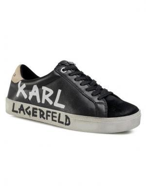 KARL LAGERFELD Sneakersy KL60110 Czarny
