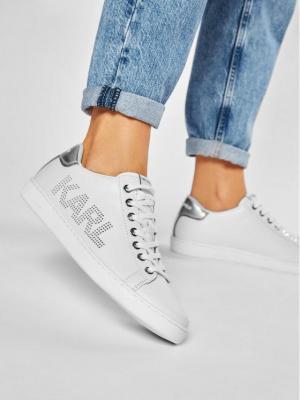 KARL LAGERFELD Sneakersy KL61220 Biały