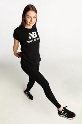 Koszulka New Balance ESSENTIALS STACKED LOGO TEE BK NBWT91546BK BLACK