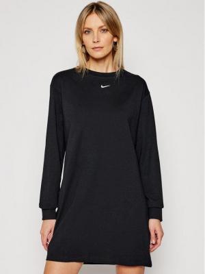 Nike Sukienka codzienna Nsw Essential CU6509 Czarny Loose Fit
