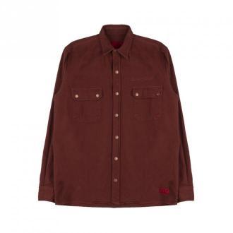 Caterpillar Pockets Shirt Koszule Brązowy Dorośli Mężczyźni Rozmiar: M