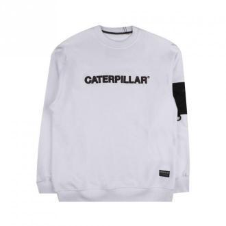 Caterpillar Pocket Sweatshirt Bluzy Biały Dorośli Mężczyźni Rozmiar: M