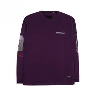 Caterpillar sweatshirt Bluzy Fioletowy Dorośli Mężczyźni Rozmiar: M