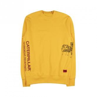 Caterpillar Sweatshirt Bluzy Żółty Dorośli Mężczyźni Rozmiar: M