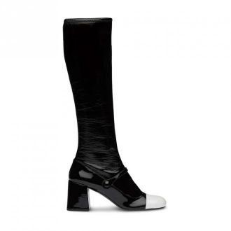Miu Miu Boots Upper Fabri Obuwie Czarny Dorośli Kobiety Rozmiar: 40