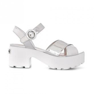 Miu Miu Heeled Sandal Obuwie Szary Dorośli Kobiety Rozmiar: 36