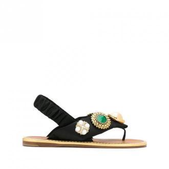 Miu Miu Flat Sandal Obuwie Czarny Dorośli Kobiety Rozmiar: 41