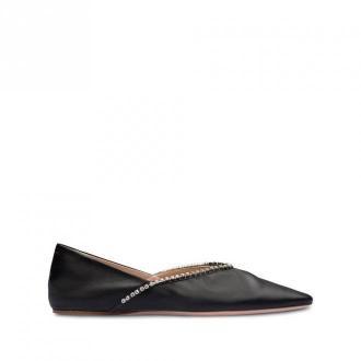 Miu Miu Flat-Heeled Shoes Obuwie Czarny Dorośli Kobiety Rozmiar: 37