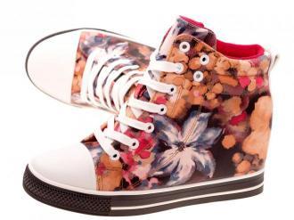Wiosenne sneakersy trampki damskie 628 PN