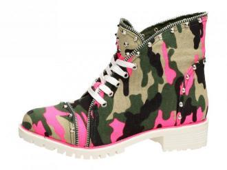 Różowe trapery, buty damskie VICES 1171-23