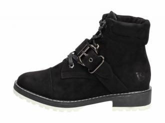 Czarne botki damskie, sztyblety VICES 2109-1