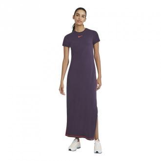 Nike Dress Sukienki Fioletowy Dorośli Kobiety Rozmiar: S