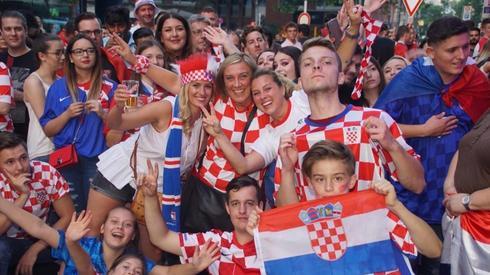 Kibice reprezentacji Chorwacji (fot. AFP)
