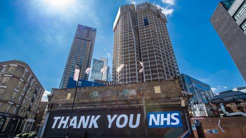 Brytyjczycy dziękują służbie zdrowia, Londyn 15 maja/(PAP/EPA, Matt Crossick)