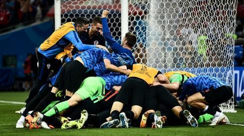 Niesamowita radość Chorwatów (fot. AFP)