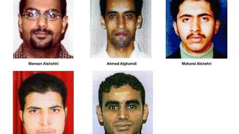 Zdjęcie: GettyImages via FBI -  - terroryści w samolocie linii United Airlines lot 175