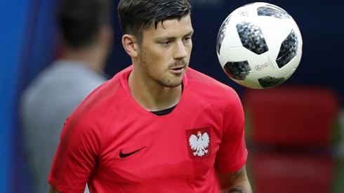Dawid Kownacki może otrzymać od Adama Nawałki szansę gry w wyjściowym składzie w meczu z Kolumbią (fot. PAP/EPA)