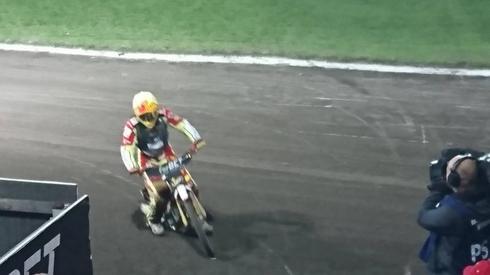 Vaclav Milik w każdym biegu zdobywał 2 punkty.