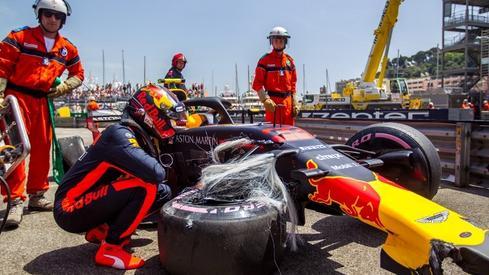 Tak wyglądał roztrzaskany bolid Verstappena (fot. AFP)