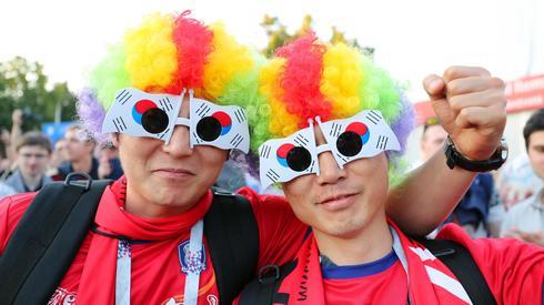 Dziś do mundialowej gry wchodzi reprezentacja Korei Południowiej. Fani z tego kraju już są w Niżnym Nowogrodzie, gdzie Korea zagra dziś o godzinie 14 ze Szwecją (fot. PAP/EPA)