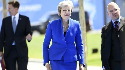 fot. Christian Brunna, PAP. - NATO jest dla nas dziś tak istotne, jak było w przeszłości - zaznaczyła premier May. Dodała również, że wciąż trwają prace majace zagwarantować przystosowanie Sojuszu do
