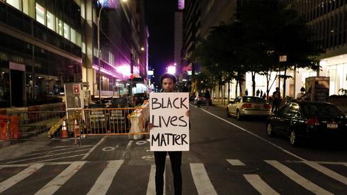 Protestujący na Manhattanie / fot. PAP, Peter Foley