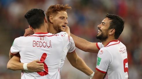Tak wyglądała radość Tunezyjczyków z gola (fot. AFP)