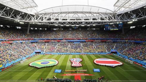 Tak prezentował się stadion w Sankt Petersburgu chwilę przed pierwszym gwizdkiem meczu Brazylia - Kostaryka (fot. PAP/EPA)