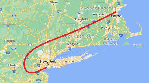 Tak wyglądała trasa lotu United Airlines, lot nr 175.