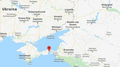 Cała sytuacja miała miejsce w Cieśninie Kerczeńskiej, łączącej Morze Azowskie z Morzem Czarnym