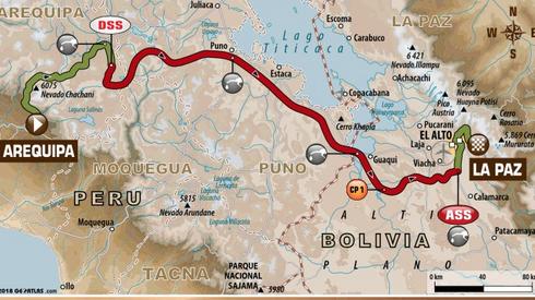 Trasa 6. etapu (dakar.com)