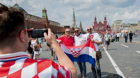 Chorwaccy kibice są już w Moskwie (fot. AFP)
