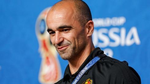 Trener Belgów, Roberto Martinez, na konferencji prasowej (fot. AFP)
