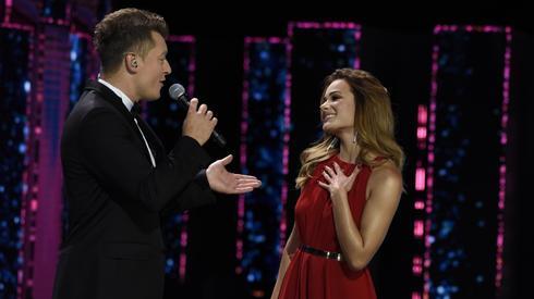Rafał Brzozowski i Natalia Szroder na scenie wyglądali bardzo elegancko (fot. East News)