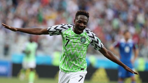 Ahmed Musa był w piątek bohaterem narodowym Nigerii (fot. PAP/EPA)