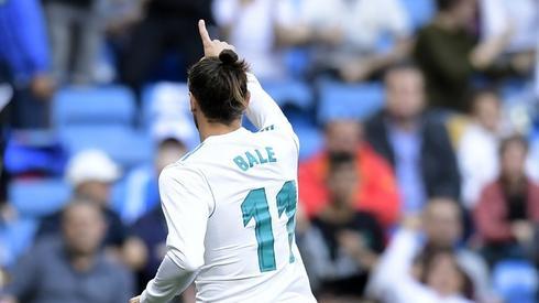 Tak Gareth Bale cieszył się z gola na 1:0