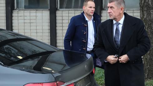 Premier Czech Andrej Babisz w kopalni Stonava/ fot. Andrzej Grygiel, PAP