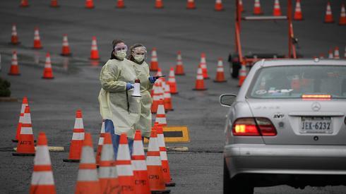 USA: testy na koronawirusa bez wysiadania z samochodu. /fot.  Yasin Ãztürk/Anadolu Agency via Getty Images