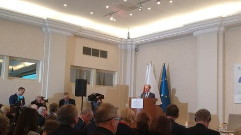 Donald Tusk w trakcie swojego wystąpienia