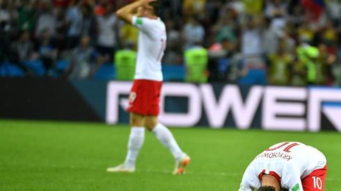 Nie takich smutnych obrazków oczekiwaliśmy po drugim meczu na mundialu w Rosji (fot. PAP/EPA)