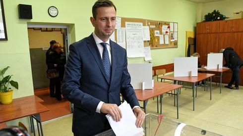 W Krakowie zagłosował lider PSL Władysław Kosiniak-Kamysz (Fot. Jacek Bednarczyk/PAP)