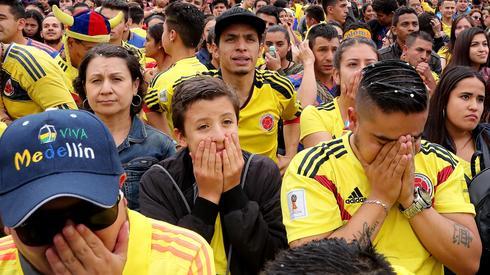 Po rzutach karnych w meczu z Anglią w Bogocie zapanowały minorowe nastroje (fot. PAP/EPA)