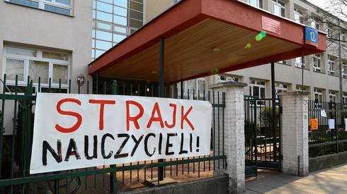 Strajk w jednej z warszawskich szkół. Fot. Agata Grzybowska / Agencja Gazeta