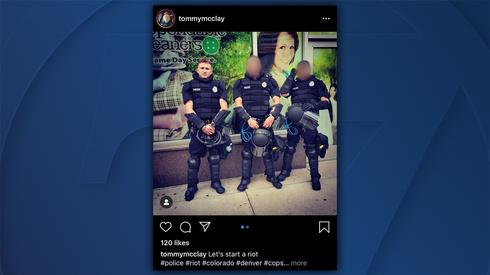 Oficer policji Tommy McClay został zwolniony ze służby po publikacji na Instagramie zdjęcia z dwoma kolegami z pracy z podpisem
