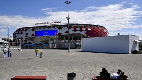 Tak wygląda Spartak Arena – stadion, na którym dziśzagrają Polacy. Barwy ma dobre! (fot. AFP)