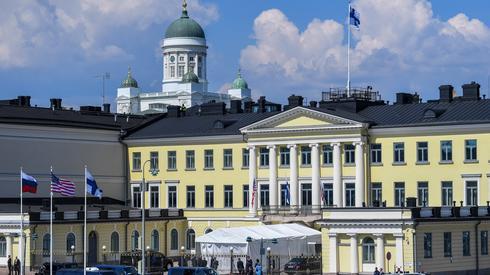 Prezydencki pałac w Helsinkach - miejsce spotkania Trumpa z Putinem