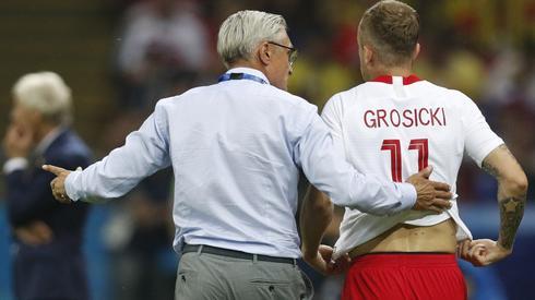 Kamil Grosicki wszedł wczoraj na murawę w drugiej połowie, ale losów meczu nie zdołał odmienić (fot. PAP/EPA)