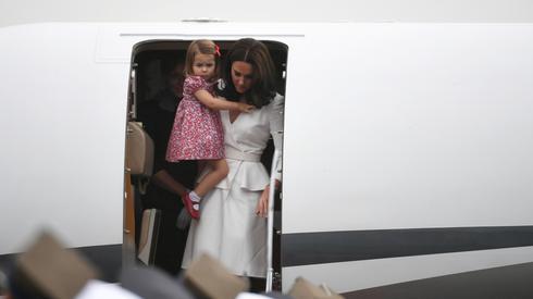 Księżna Kate z córką Charlotte. Fot.  PAP/Bartłomiej Zborowski