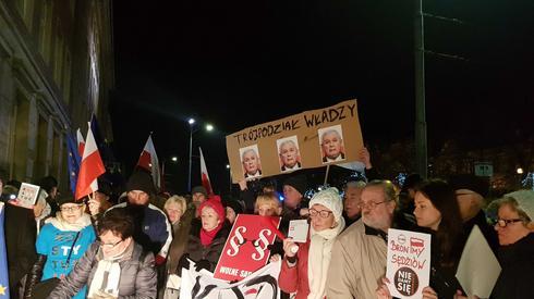 Protest w Szczecinie. /fot. Alicja Wirwicka